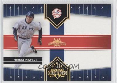 2005 Donruss Champions - [Base] - Gold Impressions #192 - Hideki Matsui /50