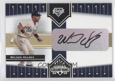 2005 Donruss Champions - [Base] - Impressions Autographs [Autographed] #398 - Wilson Valdez