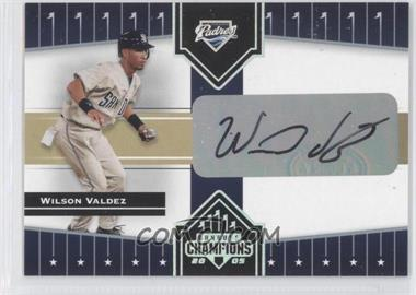 2005 Donruss Champions Impressions Autographs [Autographed] #398 - Wilson Valdez