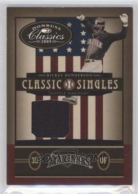 2005 Donruss Classics Classic Singles Jerseys [Memorabilia] #CS-13 - Rickey Henderson /100