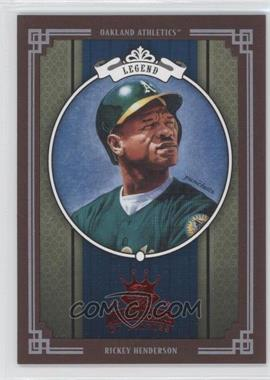 2005 Donruss Diamond Kings - [Base] - Red Framed #295 - Rickey Henderson