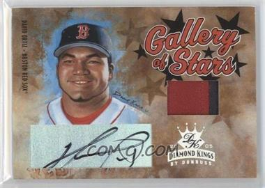 2005 Donruss Diamond Kings Gallery of Stars Materials Prime Autograph [Autographed] #GS-10 - David Ortiz /1