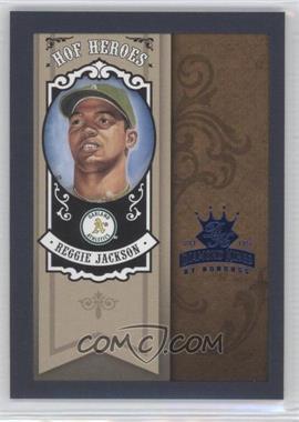 2005 Donruss Diamond Kings HOF Heroes Blue Framed #HH-24 - Reggie Jackson /100