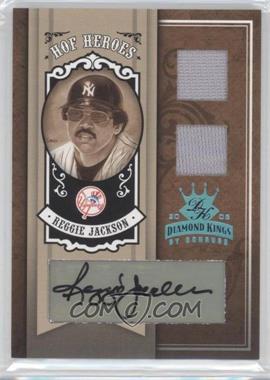 2005 Donruss Diamond Kings HOF Heroes Platinum Materials Autograph [Autographed] #HH-89 - Reggie Jackson /1