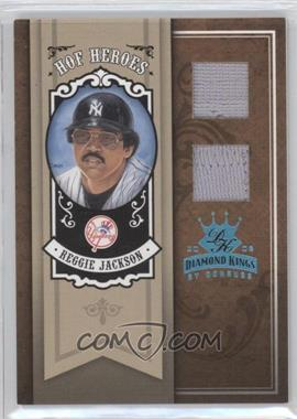 2005 Donruss Diamond Kings HOF Heroes Platinum Materials [Memorabilia] #HH-64 - Reggie Jackson /1