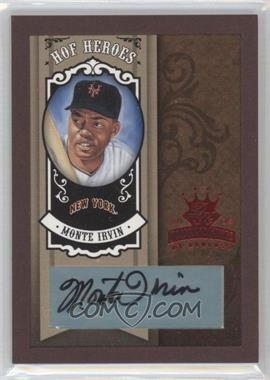 2005 Donruss Diamond Kings HOF Heroes Red Framed Signatures [Autographed] #HH-20 - Monte Irvin /5
