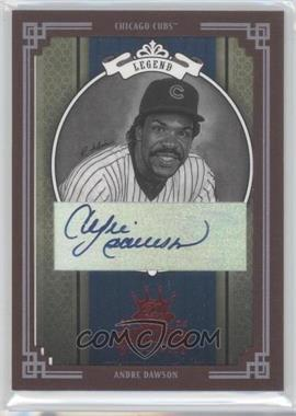2005 Donruss Diamond Kings Red Framed Black & White Autograph [Autographed] #284 - Andre Dawson /50