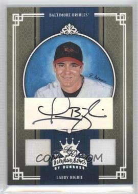 2005 Donruss Diamond Kings Silver Materials Signatures [Autographed] [Memorabilia] #31 - Larry Bigbie /100