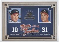 Chipper Jones, Greg Maddux