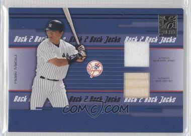 2005 Donruss Elite - Back 2 Back Jacks - Combos #BBJ-13 - Hideki Matsui