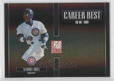 2005 Donruss Elite - Career Best - Black #CB-24 - Sammy Sosa /150
