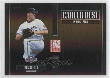2005 Donruss Elite - Career Best - Black #CB-5 - Ben Sheets /150