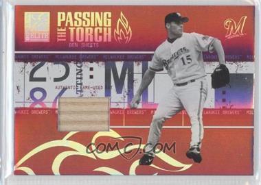 2005 Donruss Elite - Passing the Torch - Bats #PT-6 - Ben Sheets /250