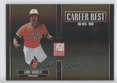 2005 Donruss Elite Career Best Black #CB-11 - Eddie Murray /150