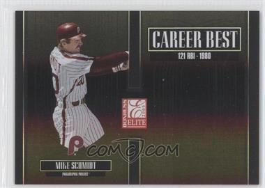 2005 Donruss Elite Career Best Black #CB-20 - Mike Schmidt /150