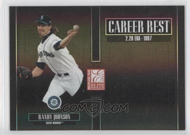 2005 Donruss Elite Career Best Black #CB-22 - Randy Johnson /150