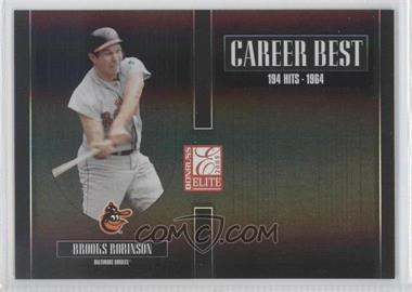 2005 Donruss Elite Career Best Black #CB-7 - Brooks Robinson /150