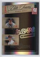 Tom Glavine, Greg Maddux, Ryan Klesko, David Justice /250