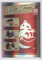 Cal Ripken Jr., Eddie Murray, Jim Palmer /500