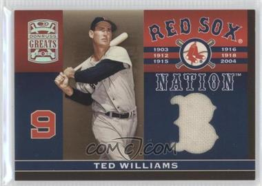2005 Donruss Greats [???] #RSN-1 - Ted Williams