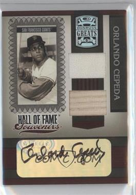 2005 Donruss Greats Hall of Fame Souvenirs Combo Materials Signatures [Autographed] [Memorabilia] #HOFS-22 - Orlando Cepeda