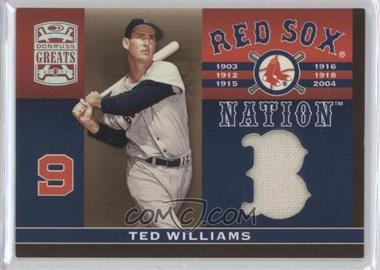 2005 Donruss Greats Red Sox Nation Materials #RSN-1 - Ted Williams
