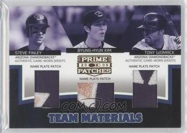 2005 Donruss Prime Patches [???] #TM-23 - Steve Finley, Byung-Hyun Kim, Tony Womack /29