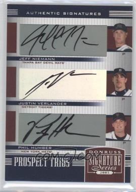 2005 Donruss Signature Series [???] #157 - Jeff Niemann, Justin Verlander, Philip Humber