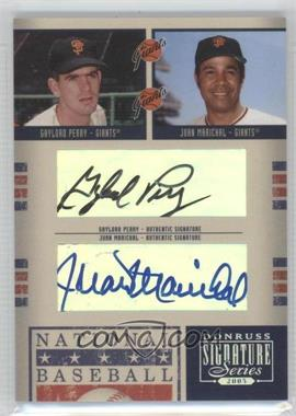 2005 Donruss Signature Series [???] #71 - Gaylord Perry, Juan Marichal, Monte Irvin, Willie McCovey