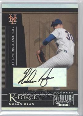 2005 Donruss Signature Series [???] #KF-1 - Nolan Ryan