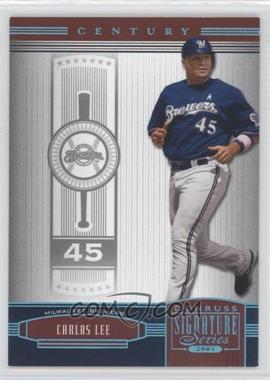2005 Donruss Signature Series Century Platinum #65 - Carlos Lee /10