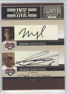 2005 Donruss Signature Series INKcredible Signatures Quads #IS-61 - Marlon Byrd, Jose Guillen, Livan Hernandez, Esteban Loaiza