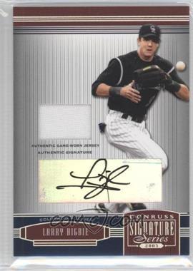 2005 Donruss Signature Series Silver Autograph Material Jersey #47 - Larry Bigbie