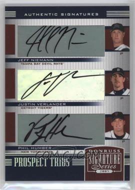 2005 Donruss Signature Series #157 - Jeff Niemann, Justin Verlander, Philip Humber