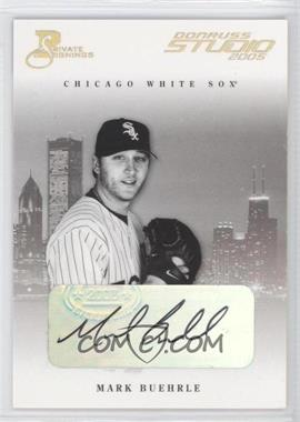 2005 Donruss Studio - [Base] - Private Signings Gold [Autographed] #71 - Mark Buehrle /50