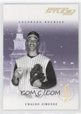 2005 Donruss Studio Proofs Gold #107 - Ubaldo Jimenez /25
