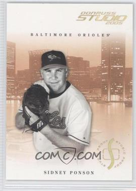 2005 Donruss Studio Proofs Gold #41 - Sidney Ponson /25