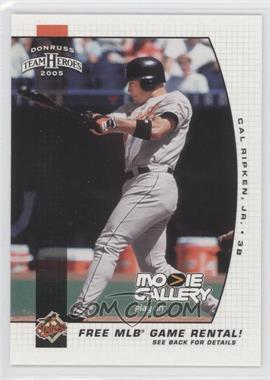 2005 Donruss Team Heroes [???] #N/A - Cal Ripken Jr.