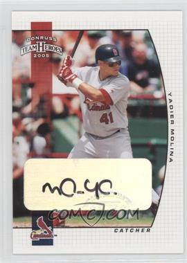 2005 Donruss Team Heroes Autographs [Autographed] #300 - Yadier Molina