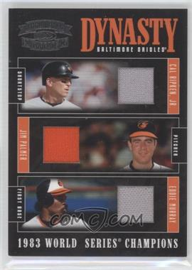 2005 Donruss Throwback Threads Dynasty Materials [Memorabilia] #D-2 - Eddie Murray, Cal Ripken Jr., Jim Palmer /50