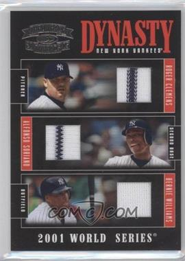 2005 Donruss Throwback Threads Dynasty Materials [Memorabilia] #D-6 - Alfonso Soriano, Bernie Williams, Roger Clemens /50