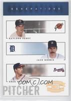 Greg Maddux, Jack Morris, Gaylord Perry /100