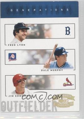 2005 Donruss Throwback Threads Generations Gold Century Proof #G-23 - Jim Edmonds, Dale Murphy, Fred Lynn /100