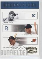 Babe Ruth, Babe Ruth, Ted Williams, Willie Mays