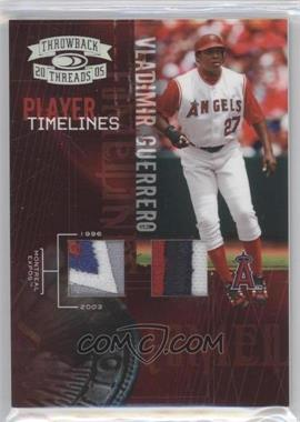 2005 Donruss Throwback Threads Player Timelines Materials Prime [Memorabilia] #PT-11 - Vladimir Guerrero /25