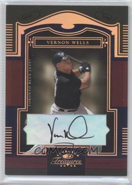 2005 Donruss Timeless Treasures Bronze Autographs [Autographed] #66 - Vernon Wells /25