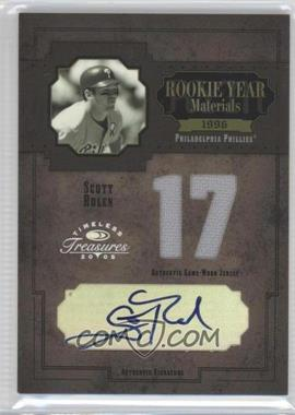 2005 Donruss Timeless Treasures Rookie Year Materials Jersey Number Signatures [Autographed] #RYM-32 - Scott Rolen /17