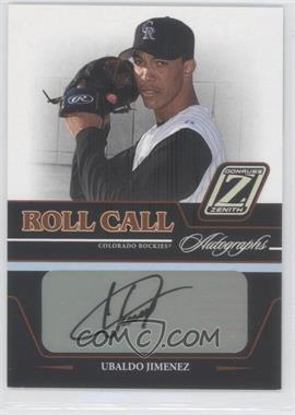 2005 Donruss Zenith Roll Call Autographs #RC-25 - Ubaldo Jimenez