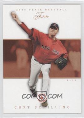 2005 Flair - [Base] - Row 1 #1 - Curt Schilling /100