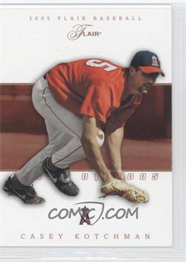 2005 Flair - [Base] - Row 1 #60 - Casey Kotchman /100